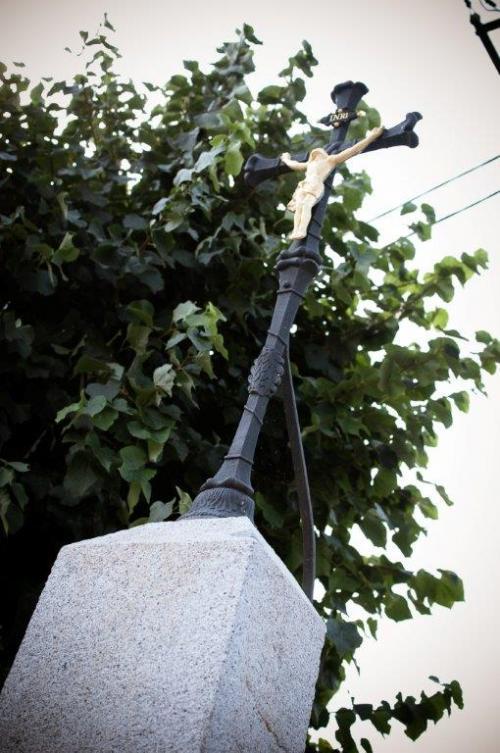 Pamětní kříž veŠtěnovickém Borku - detail